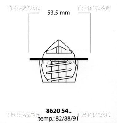 TRISCAN Thermostaat, koelvloeistof