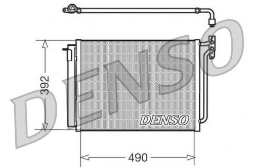 DENSO DENSO Condensor, airconditioning (DCN05009) (DCN05009)