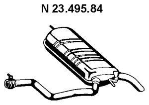 EBERSPÄCHER EBERSPÄCHER Einddemper (23.495.84) (23.495.84)