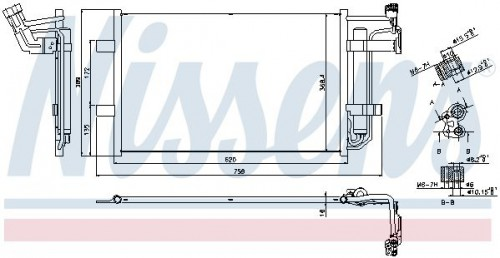 NISSENS NISSENS Condensor, airconditioning (940355) (940355)