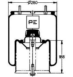 PE Automotive PE Automotive Veerbalg, luchtvering (084.082-73A) (084.082-73A)