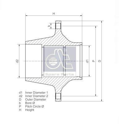 DT Spare Parts Wielnaaf (10.10410) DT Spare Parts (10.10410)