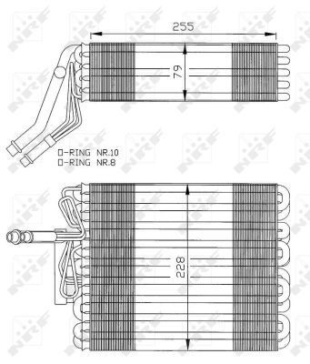 NRF Verdamper, airconditioning (36025) NRF (36025)