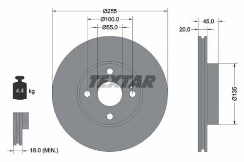 TEXTAR Remschijf (92096800) TEXTAR (92096800)