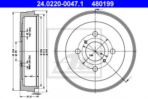 ATE ATE Remtrommel (24.0220-0047.1) (24.0220-0047.1)
