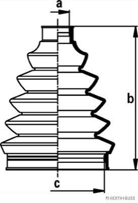 HERTH+BUSS JAKOPARTS HERTH+BUSS JAKOPARTS Asmanchetten set (J2862014) (J2862014)