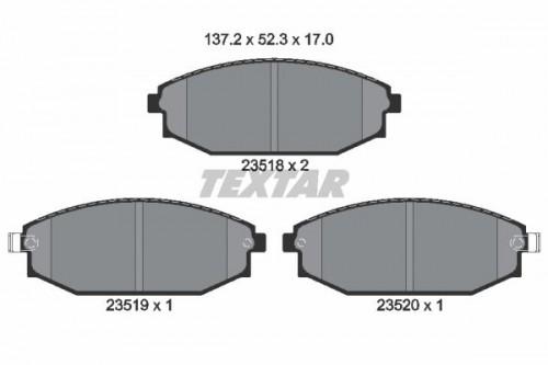 TEXTAR Remblokken set (2351801) TEXTAR (2351801)